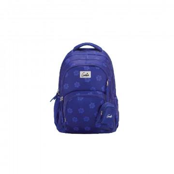 Genie Velventeen Purple 36L Backpack For Kids