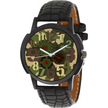 Men's Excel Black army Analog Watch