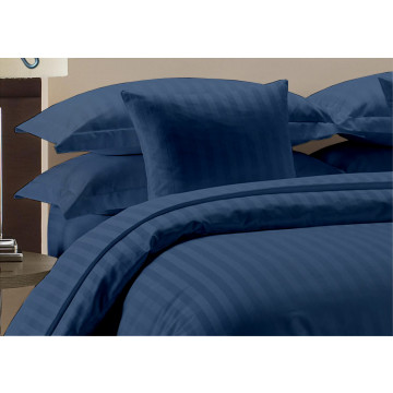 Egyptian Cotton Beddings Bed Sheet With Pillow Covers - Nevy Blue
