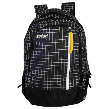 Safari Checkmate 32 Liters Black Backpack
