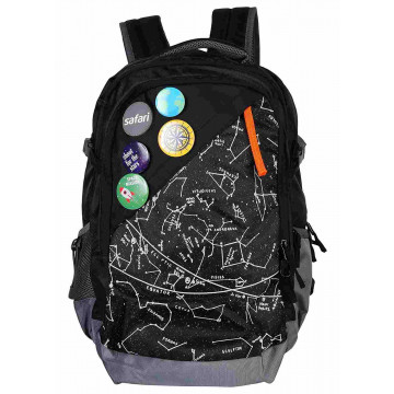 Safari Constellation 35 Liters Black Laptop Backpack