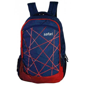 Safari Kaleidoscope 35 Liters Blue & Red Laptop Backpack
