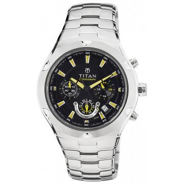 Titan NE9468SM01J Chronograph Black Dial Men Watch