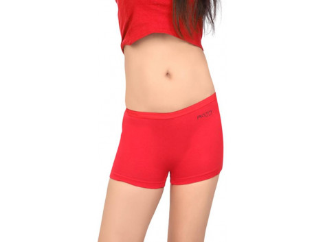 Pusyy Women's Boy Short Red Panty  (Pack of 1)