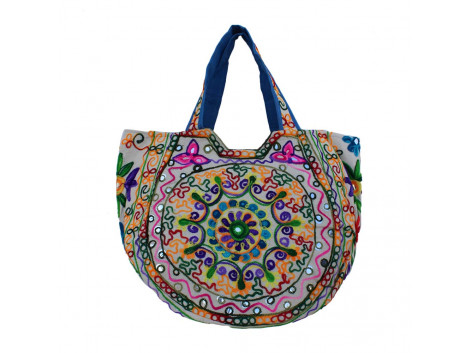 The Living Craft Ethnic Kutch Women's BAG with RABARI Embroidery Multicolor TLCBG0317