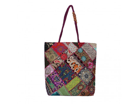 The Living Craft Zari-Gota Patchwork Women's TOTE Multicolor TLCBG0296