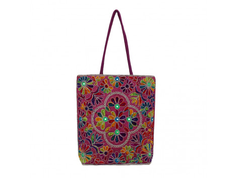 The Living Craft Wollen Embroidery Women's TOTE Multicolor TLCBG0285