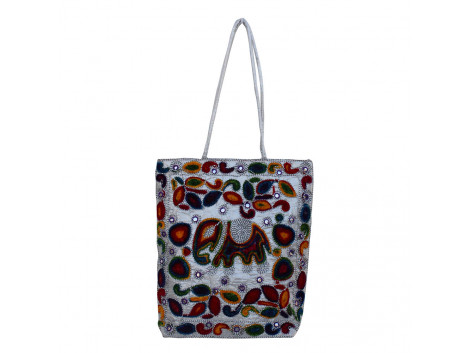 The Living Craft Wollen Embroidery Women's TOTE Multicolor TLCBG0281