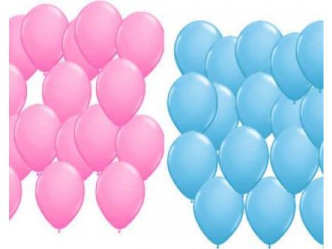 Brown Leaf 100 PCs Pink & Blue Balloon Birthday Wedding Party Medium size High Quality Balloon (50 Pcs Blue & 50 Pcs Pink)