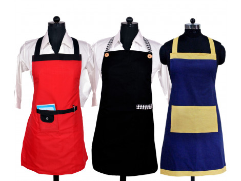 Branded New Design Waterproof Apron Combo pack of 3