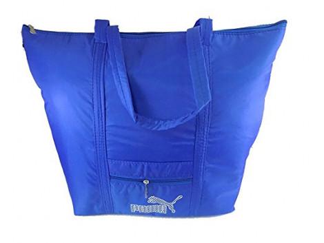 Brown Leaf Blue Leather 236Cms Soft Sided Luggage Bag
