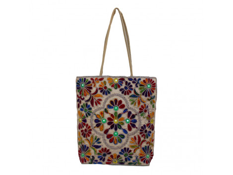 The Living Craft Wollen Embroidery Women's TOTE Multicolor TLCBG0277