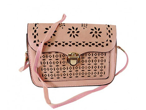 Brown Leaf Women Regular Series Leather Hand wallet sling bag clutch for women,Girls,Ladies