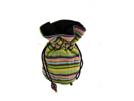 Brown Leaf Designer Potli Bag for Women Girls & Ladies Green BL1119