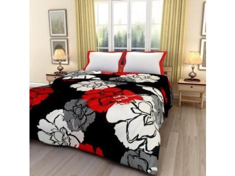 Monil Floral Print Reversible Poly Cotton Single Bed AC Blanket / Dohar