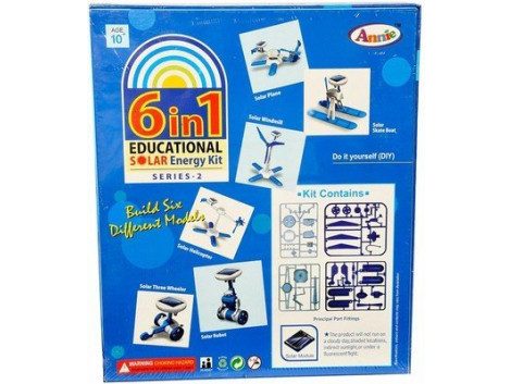 Annie 6 - in - 1 Educational Solar Energy Kit Series 2, Multi Color