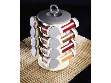 Pogo Grey Spice Jar Set With 16 Jars