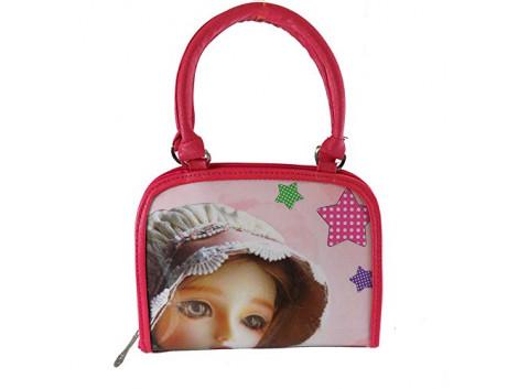 Brown Leaf Women Regular Series Handbag wallet clutch for women Girls Ladies pink