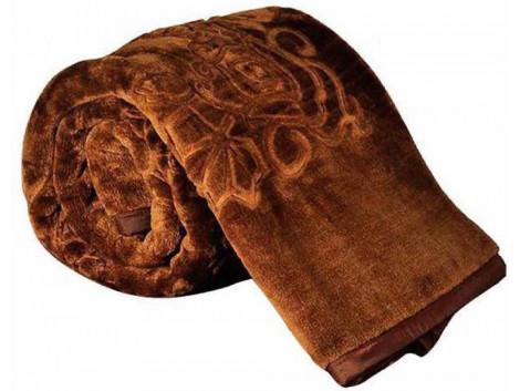 SRS Brown Floral Single Bed Blanket