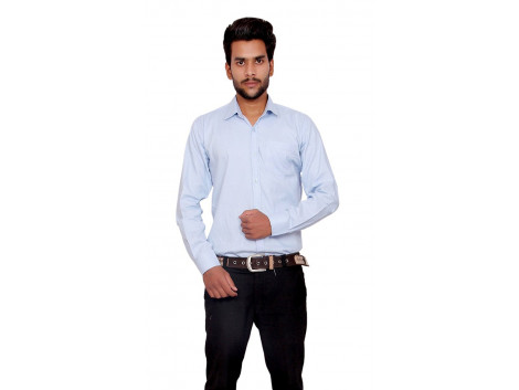 Pezzava Cotton Plain Formal Shirt for men's