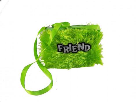 Brown Leaf Pocket Money Purse Small Hand Wallet Bag For Kids