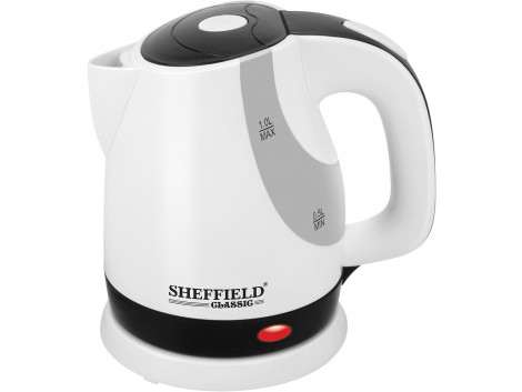 SHEFFIELD CLASSIC 7001 CONC 1-Liter Electric Kettle (White & Black)