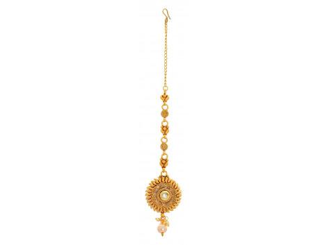 SPE Indian Ethnics Golden Maang Tikka for Women (HL-02)
