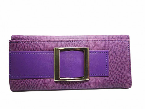 Brown Leaf Regular Series puple hand wallet clutch for women Girls ladies BL1012