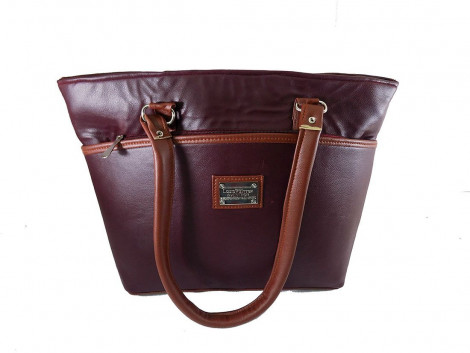 Brown Leaf Women Regular Series Office college Handbag bag for women,Girls,Ladies
