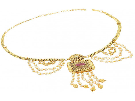 SPE Indian Ethanics Gold Metal Belly Chain for Women (SPE-WB -01)