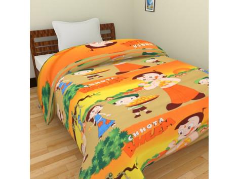 KRISHNA Cartoon Chota Bheem Print Single Ac Blanket - Multicolour