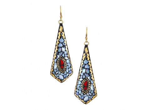 Archiecs Creations Trendy Brass Danglers Earring for Women