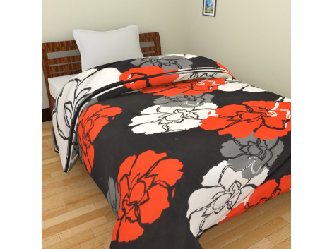 KRISHNA Polycotton Double Blanket - Multicolour