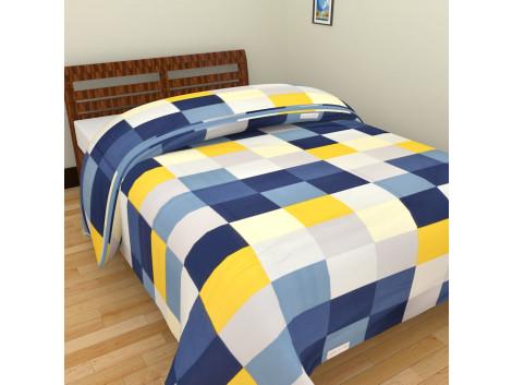 Polka Dot Blue Grey Single Bed Blankets