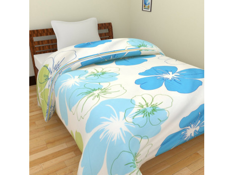 Floral Print Single Bed Blankets