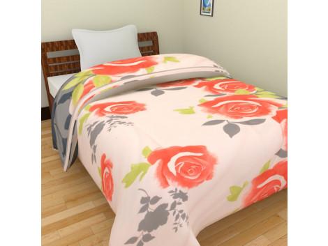 KRISHNA Polycotton Single Blanket - Multicolour