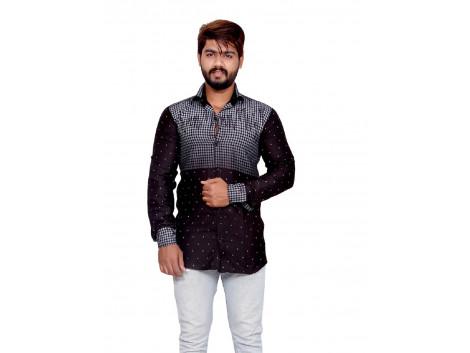 Pezzava Cotton Printed Shirt For Men's
