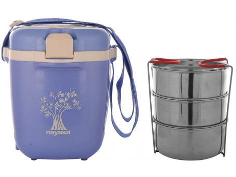Nayasa Electric Plastic Tiffin, Blue