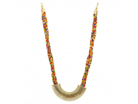 Archiecs Creations Alloy Multicolor Beads Multistrand Neckpiece for Women