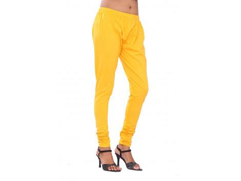 Pezzava Girls Cotton Leggings -Yellow