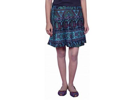Pezzava Cotton Wraparound Mini Skirt