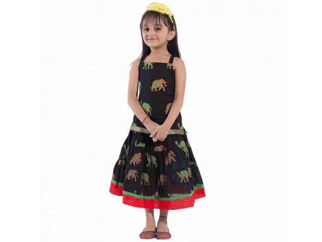 Archiecs Creations Beautiful Camel Motifs Lehanga Choli Set For Girls As a Skirt with Top set--Raksha Bandhan special For Kds skirt (rakhi Gift For kid & Baby Girls)