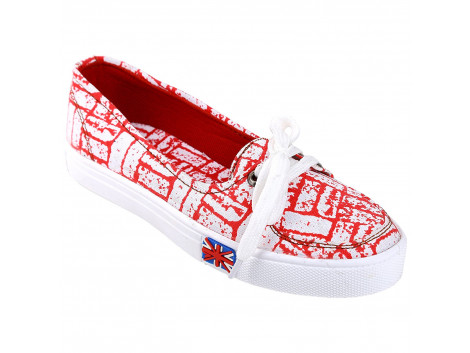Kassler Women Slip-On Style Printed Canvas Shoes
