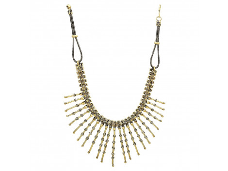 Archiecs Creations Oxidised Gold Plated Choker Neckpiece for Women