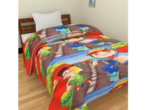 KRISHNA Cartoon Game Subway Surffer Print Single Ac Blanket - Multicolour