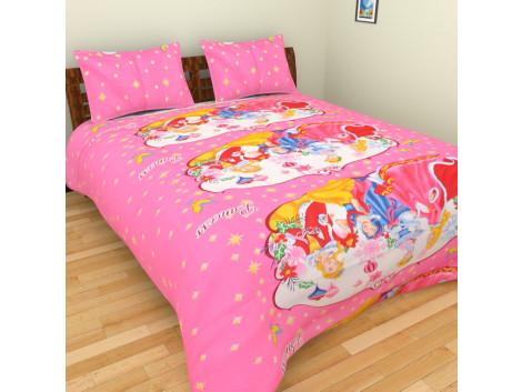 Krishna Cartoon Double Bed Bedsheets