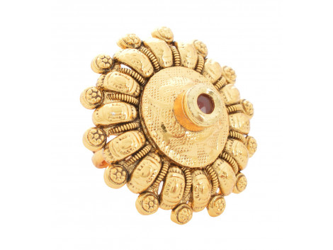 SPE Indian Ethnics Golden Ring for Women - Free Size (R-06)