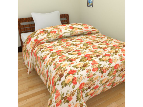 KRISHNA Polycotton Single Blanket - Multicolour