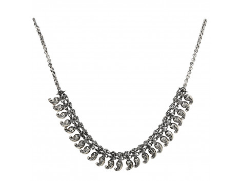 Archiecs Creations German Silver Plated Chain Necklace for Women
