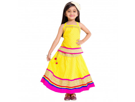 Archiecs Creations Beautiful Lehenga Choli Set Top & Skirt For Girls Diwali & Navaratri Special